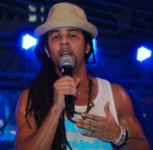 CIC past pupil turned Soca Star Kees Dieffenthaller of Kes the Band performin at the 2013 'Feting With The Saints'