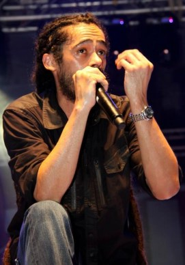 Damian 'Junior Gong' Marley sings to the St. Maarten Crowd