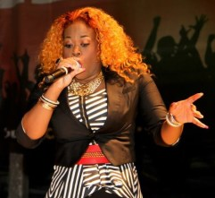 T&T's Nadia Batson shows true woman power during the St. Maarten Carnival concert